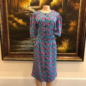 Adrianna Papell Vintage Belted Dress Size 16